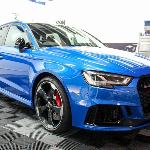 paint protection gallery Sydney Premium Detailing Protection Portfolio Audi RS3 Hatch Blue 600x600