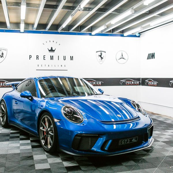 paint protection gallery Sydney Premium Detailing Protection Portfolio Blue Porsche GT3 991 600x600
