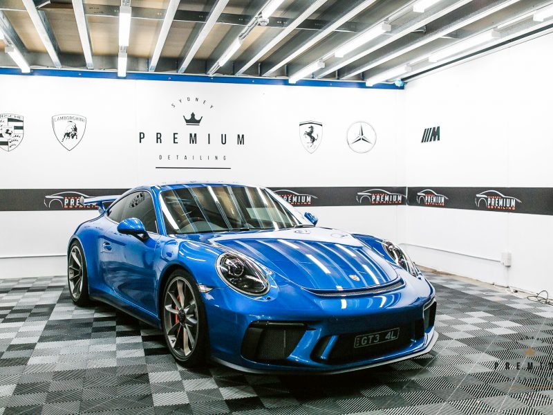 [object object] GYEON quartz Paint Protection Blue Porsche GT3 991 800x600