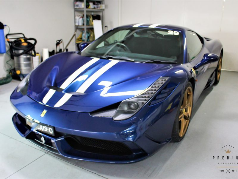 gyeon protection SPD Paint Protection Packages Ferrari 458 Speciale Blue 800x600
