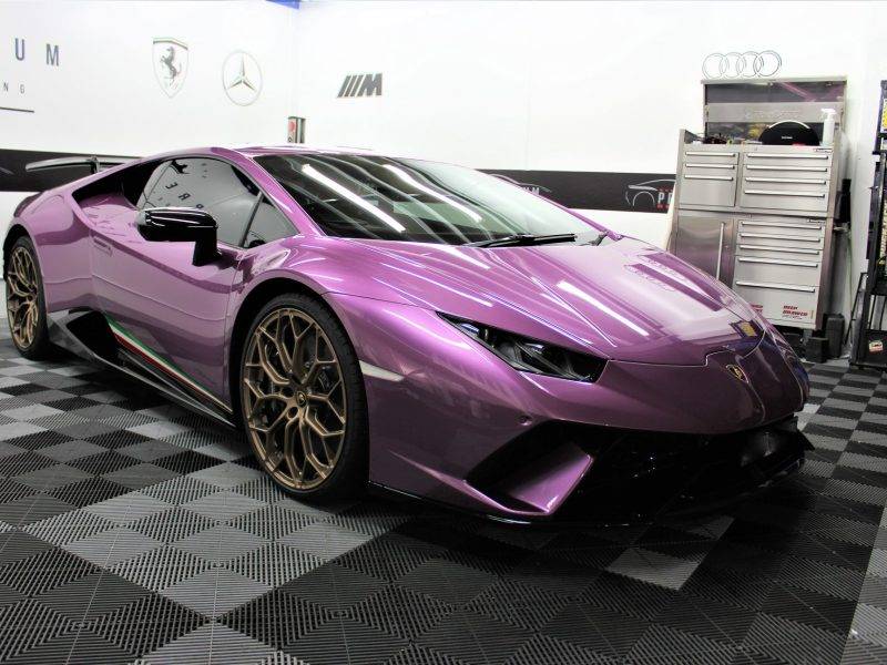 xpel ultimate paint protection film XPEL ULTIMATE Paint Protection Film Lamborghini Huracan Performance XPEL PPF Clear Bra 5 800x600