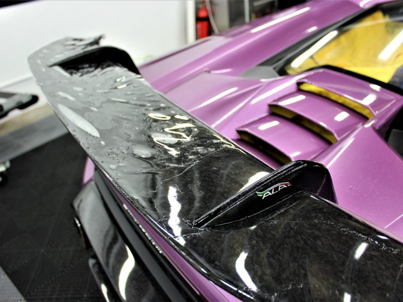 xpel ultimate paint protection film XPEL ULTIMATE Paint Protection Film Lamborghini Huracan Performance XPEL PPF Clear Bra 6 800x600