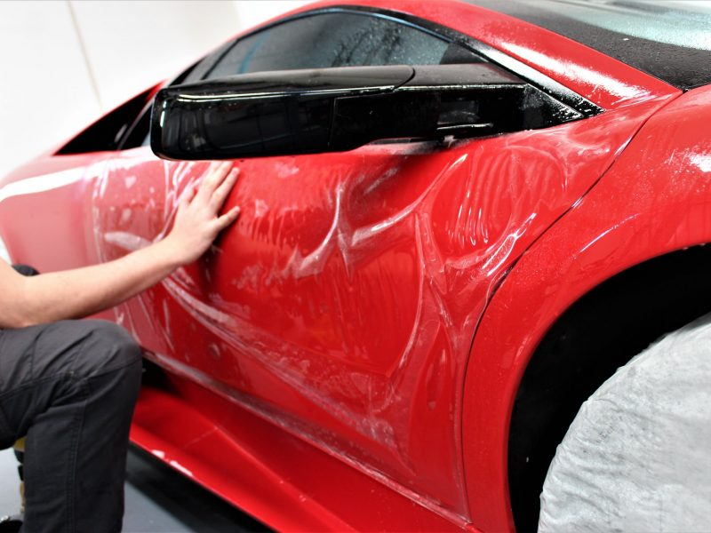 xpel ultimate paint protection film XPEL ULTIMATE Paint Protection Film Lamborghini Murcielago XPEL Application 800x600