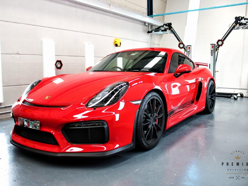 gyeon protection SPD Paint Protection Packages Red Porsche GT4 GYEON XPEL 800x600