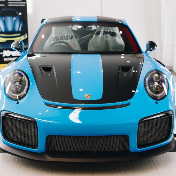 porsche 911 gt2rs - xpel ultimate plus & gyeon quartz full protection Porsche Paint Protective Solutions Showcase Porsche GT2RS GYEON XPEL FRont 600x600