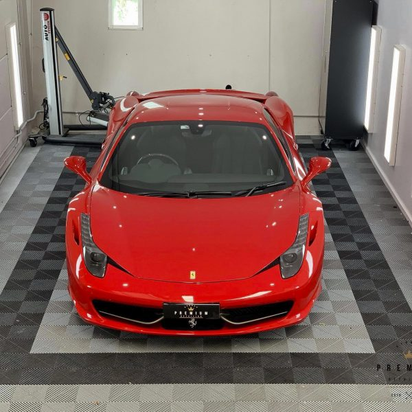 ferrari paint protection Ferrari Paint Protective Solutions – Sydney Premium Detailing Ferrari 458 GYEON quartz Ceramic Paint Protection Coating 01 600x600