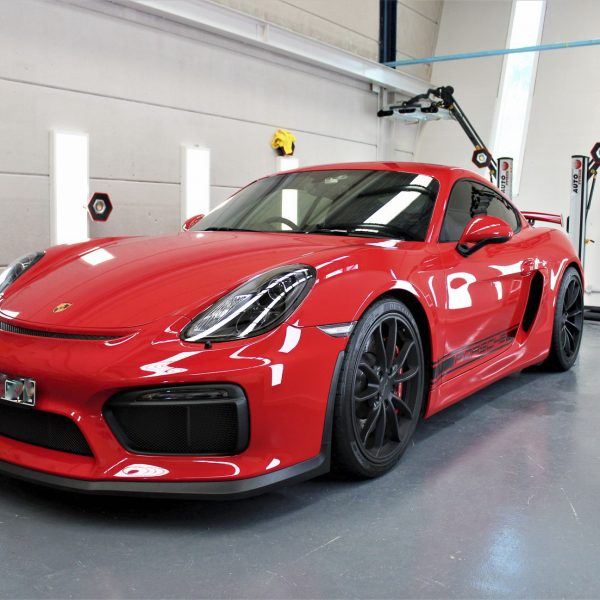 porsche 911 gt2rs - xpel ultimate plus & gyeon quartz full protection Porsche Paint Protective Solutions Showcase Porsche GT4 Red Clear Bra XPEL ULTIMATE PLUS Paint Protection Film 01 600x600