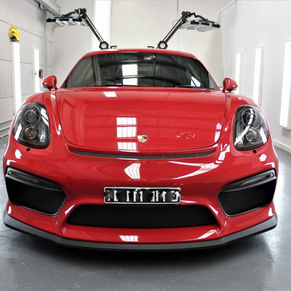 porsche 911 gt2rs - xpel ultimate plus & gyeon quartz full protection Porsche Paint Protective Solutions Showcase Porsche GT4 Red Clear Bra XPEL ULTIMATE PLUS Paint Protection Film 02 600x600