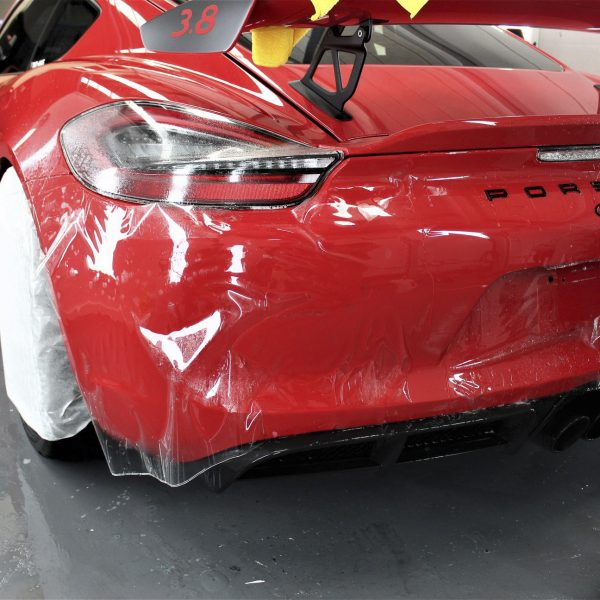 porsche 911 gt2rs - xpel ultimate plus & gyeon quartz full protection Porsche Paint Protective Solutions Showcase Porsche GT4 Red Clear Bra XPEL ULTIMATE PLUS Paint Protection Film 04 600x600