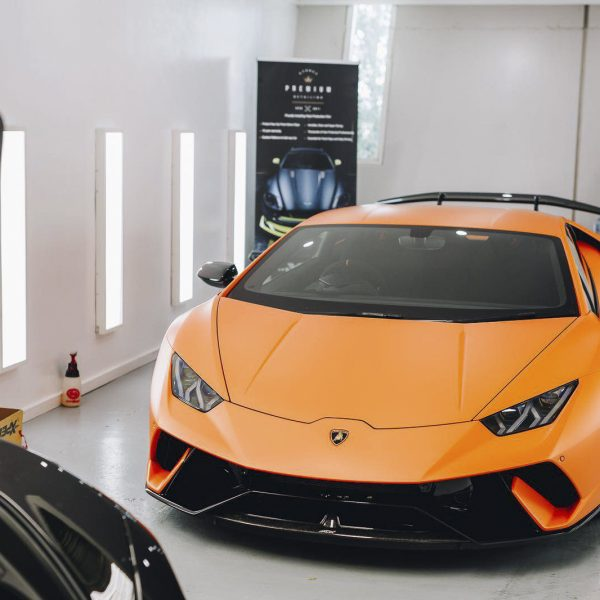 lamborghini detailer Lamborghini – XPEL Paint Protection Film & GYEON quartz Ceramic Protection lamborghini huracan matte orange paint xpel stealth 05 600x600