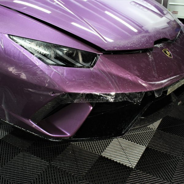 lamborghini detailer Lamborghini Aventador SVJ – XPEL STEALTH Matte Paint Protection Film – No More Stone-Chips lamborghini huracan performante purple xpel paint protection film ppf sydney 04 600x600