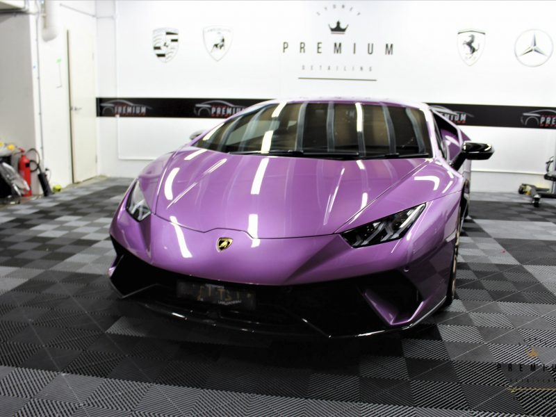 [object object] Sydney Premium Detailing Protection Portfolio lamborghini huracan performante purple xpel paint protection film ppf sydney 06 800x600