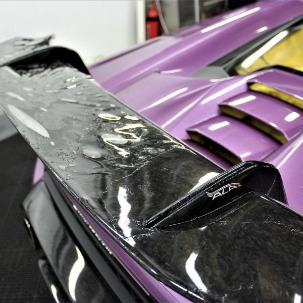 lamborghini detailer Lamborghini Aventador SVJ – XPEL STEALTH Matte Paint Protection Film – No More Stone-Chips lamborghini huracan performante purple xpel paint protection film ppf sydney 07 600x600