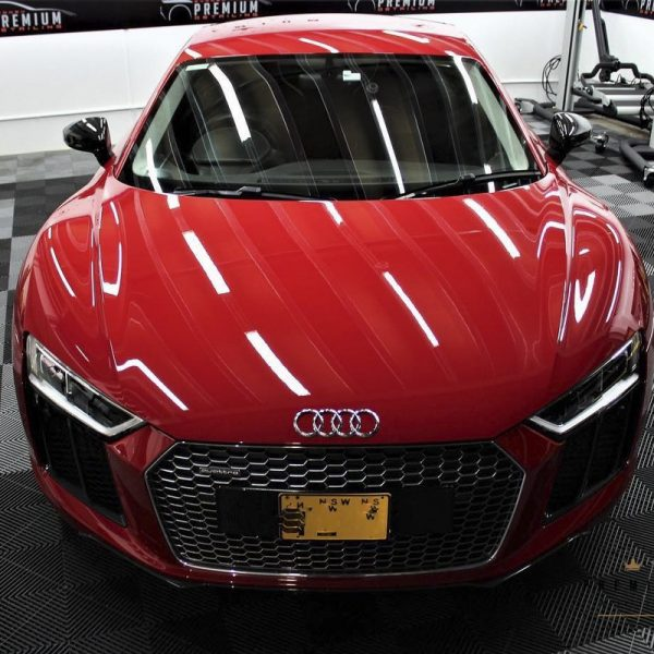 [object object] Audi Paint Protective Solutions Showcase Audi R8 Red XPEL PPF 01 1 600x600