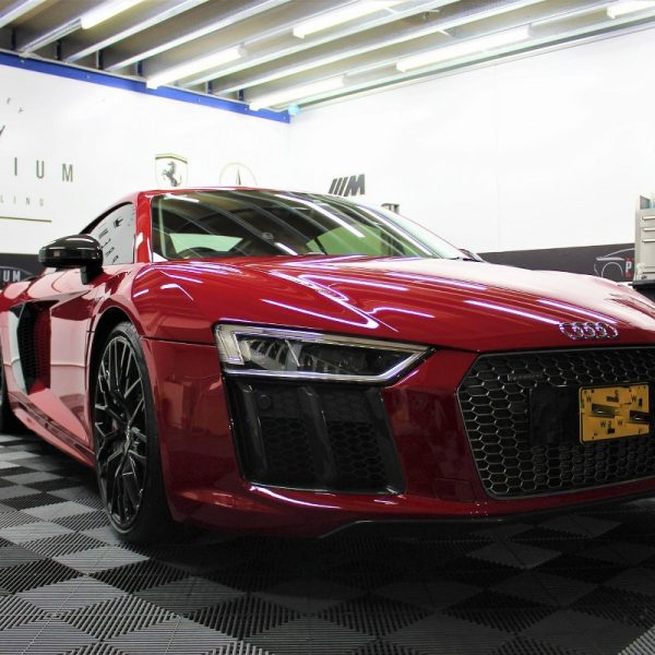 [object object] Audi Paint Protective Solutions Showcase Audi R8 Red XPEL PPF 02 600x600