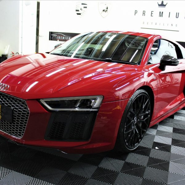 [object object] Audi Paint Protective Solutions Showcase Audi R8 Red XPEL PPF 03 600x600