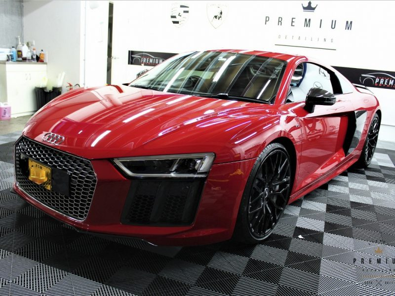 [object object] GYEON quartz Paint Protection Audi R8 Red XPEL PPF 03 800x600