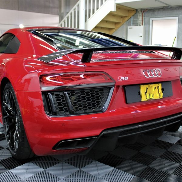 [object object] Audi Paint Protective Solutions Showcase Audi R8 Red XPEL PPF 04 600x600