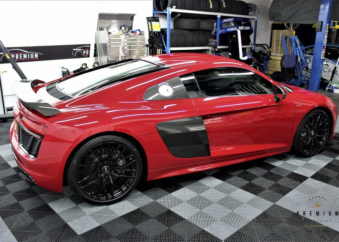 [object object] Audi Paint Protective Solutions Showcase Audi R8 Red XPEL PPF 05 1120x800
