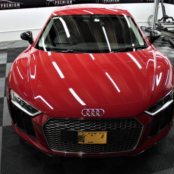 [object object] Audi Paint Protective Solutions Showcase Audi R8 Red XPEL PPF 07 600x600