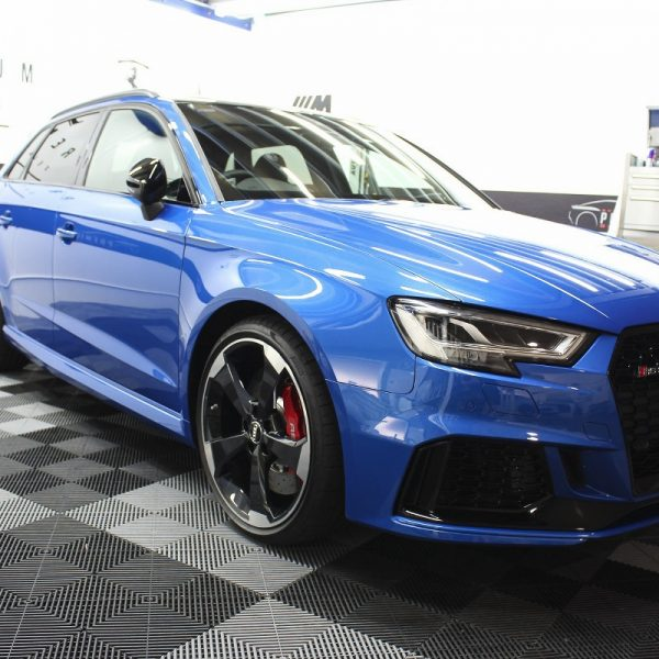 [object object] Audi Paint Protective Solutions Showcase Audi RS3 Blue Ceramic PPF SPD 01 600x600
