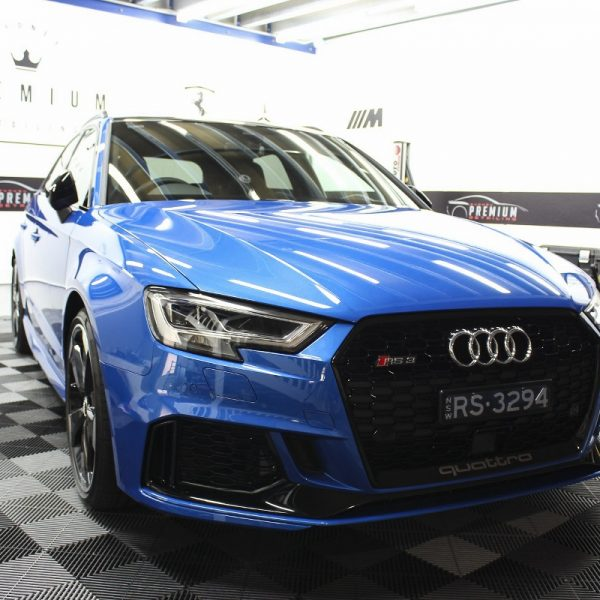 [object object] Audi Paint Protective Solutions Showcase Audi RS3 Blue Ceramic PPF SPD 02 1 600x600