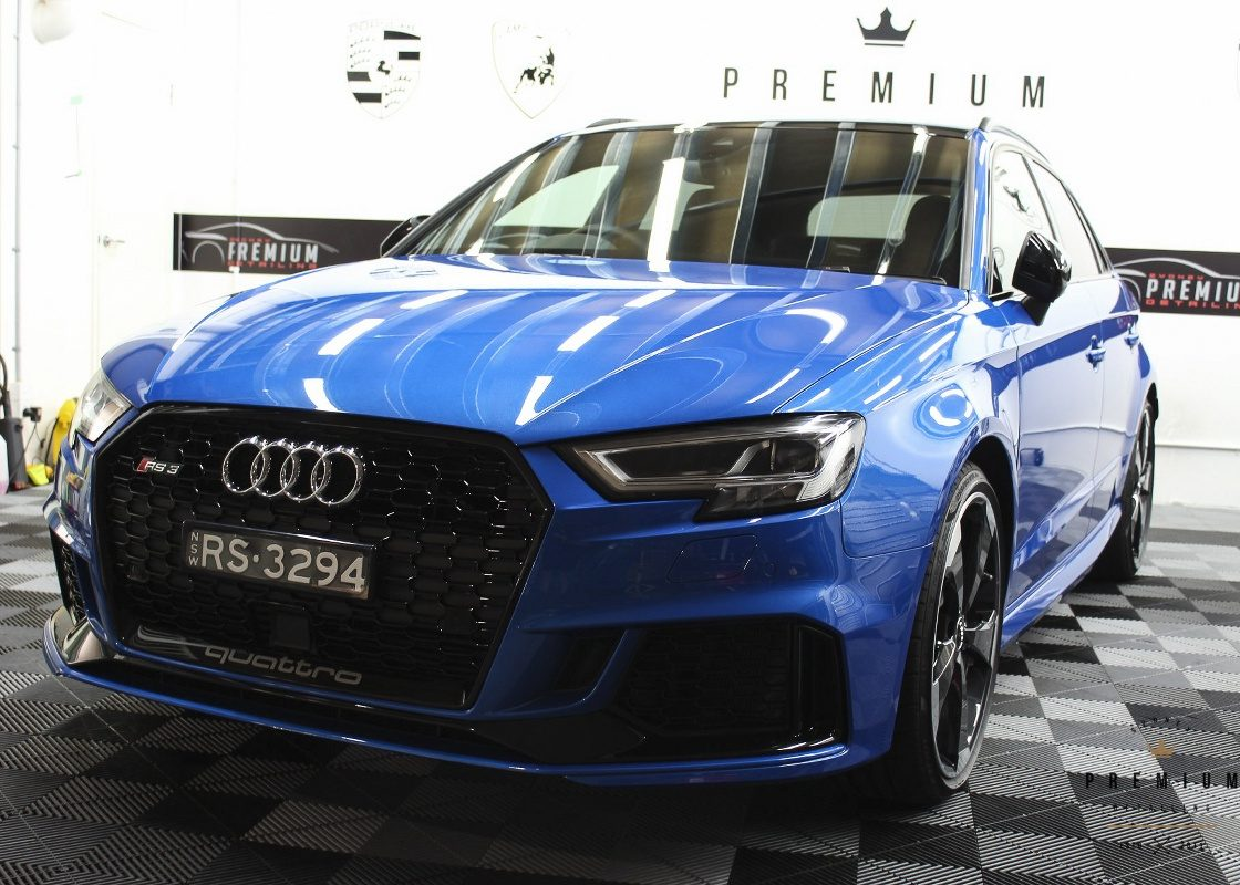 [object object] Audi Paint Protective Solutions Showcase Audi RS3 Blue Ceramic PPF SPD 04 1120x800