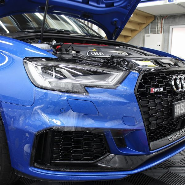 [object object] Audi Paint Protective Solutions Showcase Audi RS3 Blue Ceramic PPF SPD 05 600x600