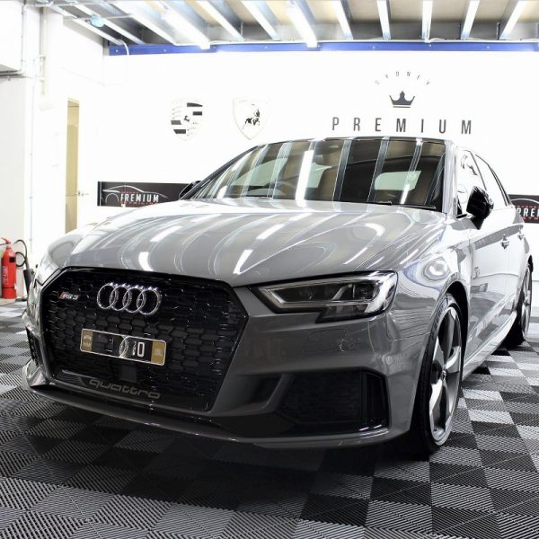[object object] Audi Paint Protective Solutions Showcase Audi RS3 Nardo Grey Ceramic PPF SPD 03 1 600x600