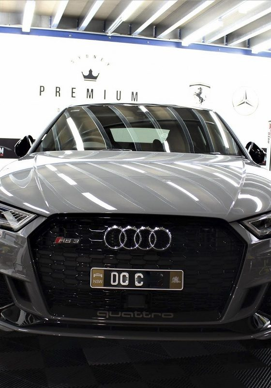 [object object] Audi Paint Protective Solutions Showcase Audi RS3 Nardo Grey Ceramic PPF SPD 04 560x800