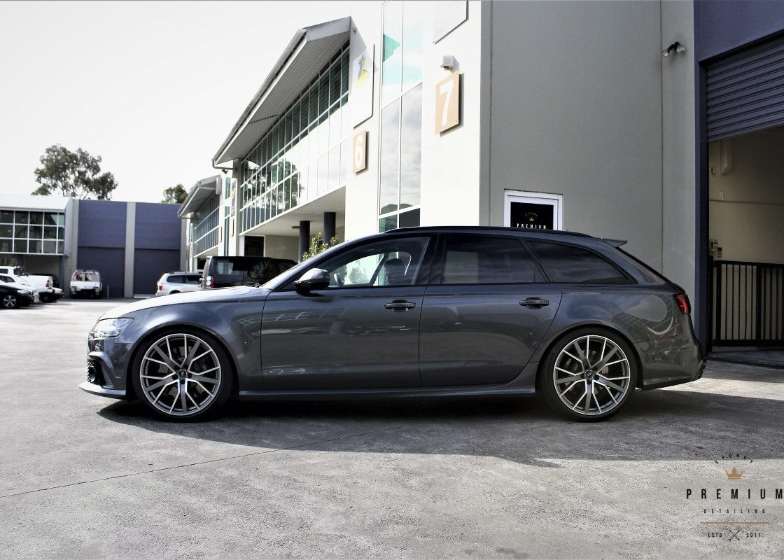 [object object] Audi Paint Protective Solutions Showcase Audi RS6 SPD Paint Protection Coating Grey 03 1120x800