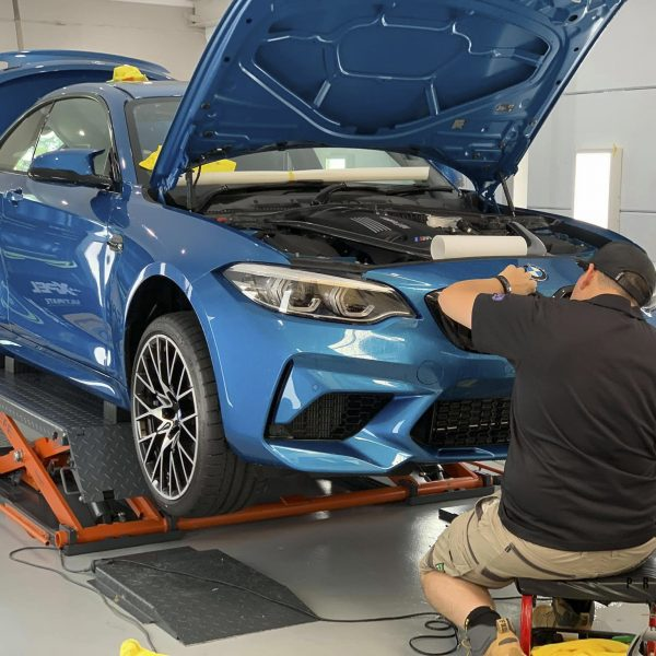 sydney lamborghini detailer BMW Paint Protective Solutions Showcase BMW M2 Blue XPEL GYEON quartz 06 600x600