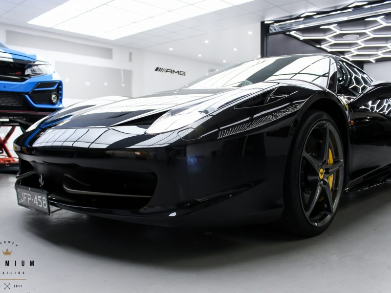 xpel ultimate paint protection film XPEL ULTIMATE Paint Protection Film Ferrari 458 black XPEL STEK Kamikaze Gyeon 1600x1067 800x600